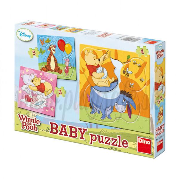 Dino Baby Puzzle Medvedík Pu, 3ks