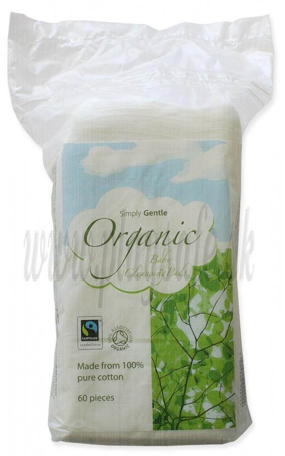 Simply Gentle Bio bavlnené detské suché utierky, 60ks