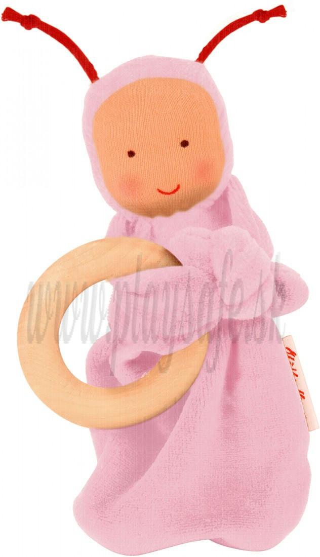 Käthe Kruse Mazlíček Dúhový panáčik bavlna svetloružový, 16cm