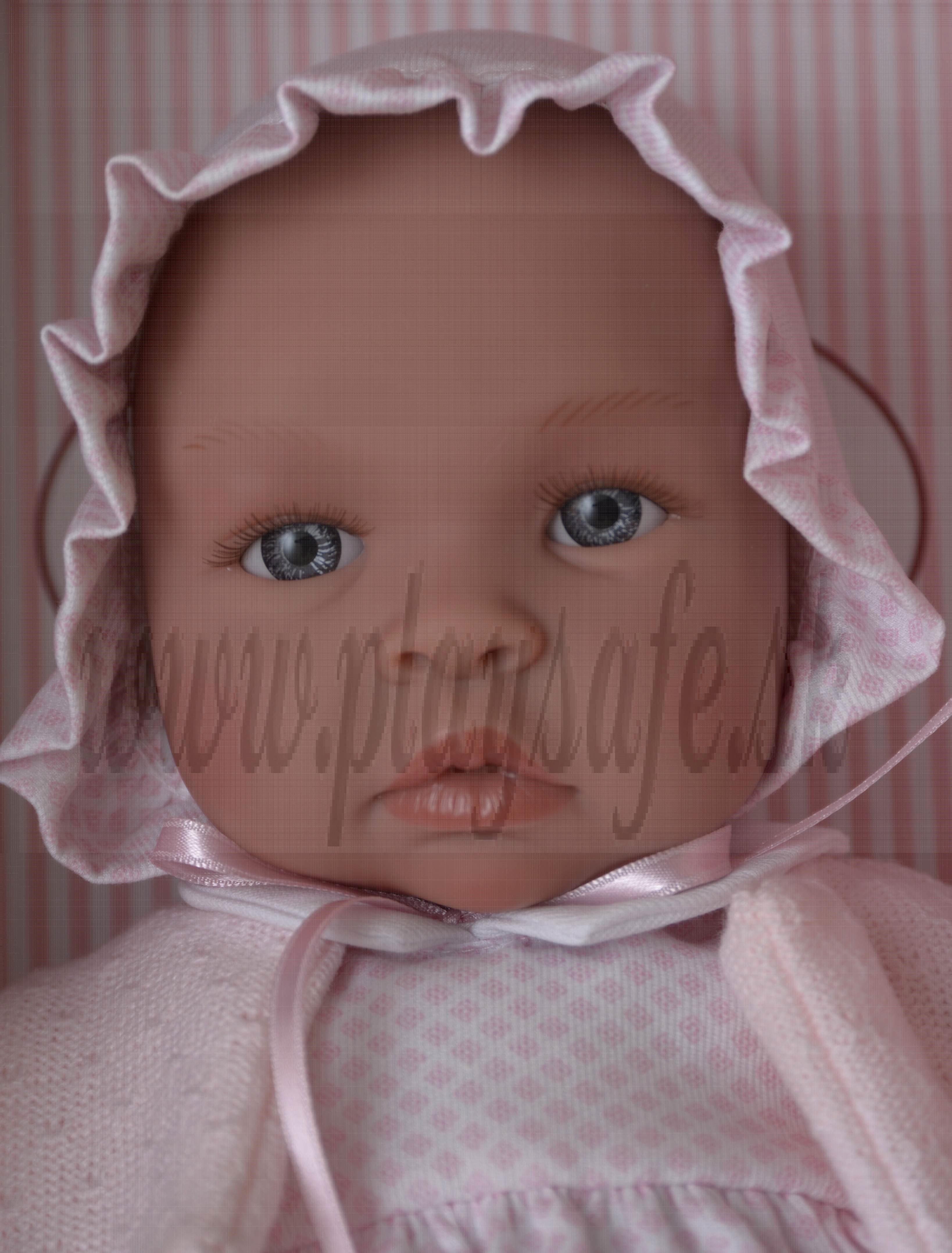 Asivil Bábika s látkovým telíčkom Lea, 46cm ružovobiele šatočky
