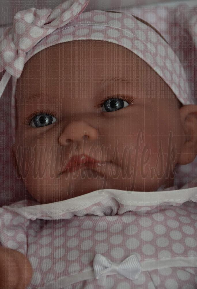 Antonio Juan Látková bábika bábätko Nica Saquito, 40cm v spacom vaku