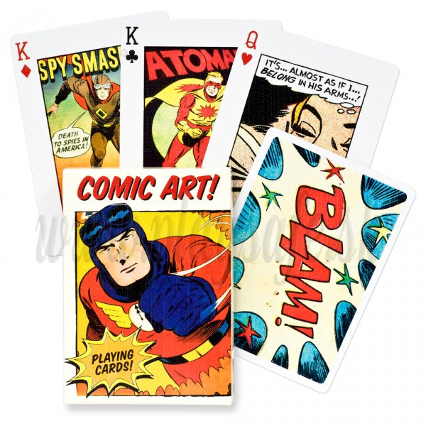 Piatnik Karty Vintage Comic Book Art, 54 kariet poker