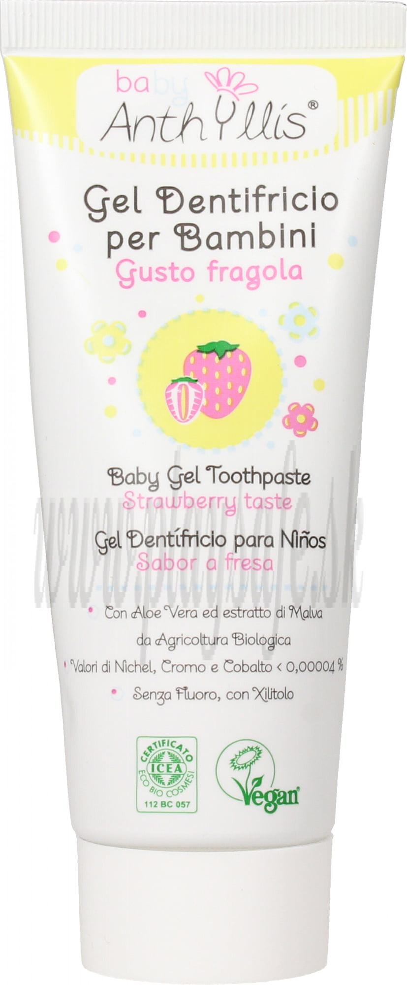 Anthyllis Prírodná detská zubná pasta jahoda, 75ml