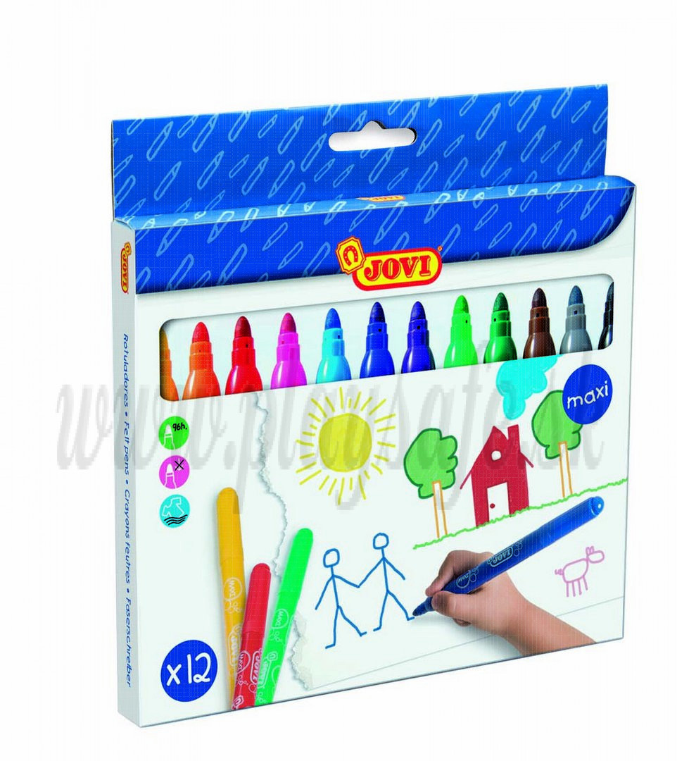 JOVI® Detské fixky Maxi hrubé, 12 farieb