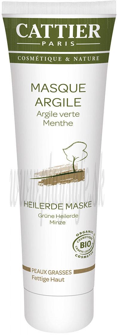 Cattier Paris Zelená ílová maska pre mastnú a zmiešanú pleť, 100ml