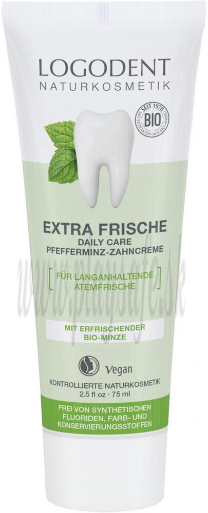 Logona Logodent Zubná pasta Extra Fresh bio mäta, 75ml