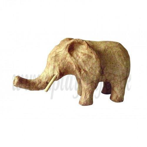 DECOPATCH Papier-maché Kartónový slon, 12.3x5.7x6.8cm
