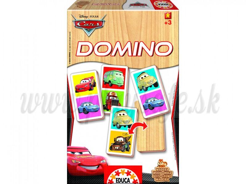 EDUCA Domino drevené Cars, 21ks