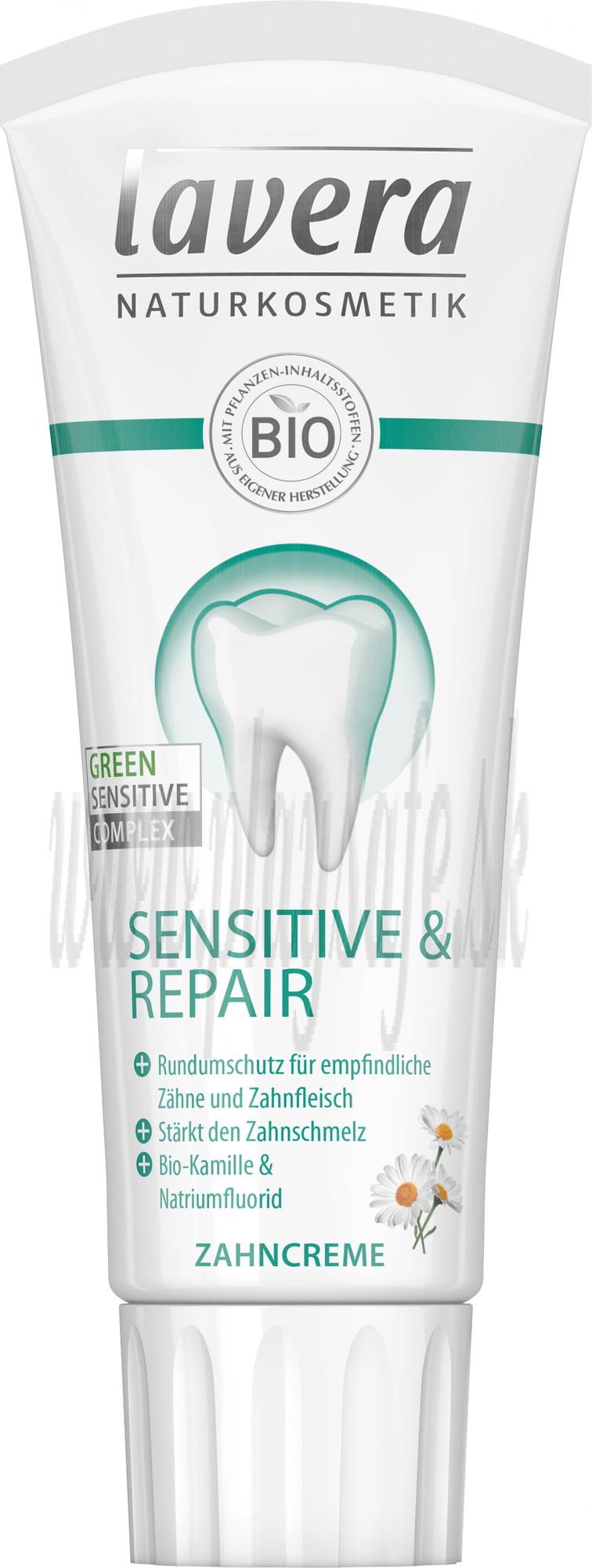 Lavera Zubná pasta Sensitive & Repair s fluoridom, 75ml