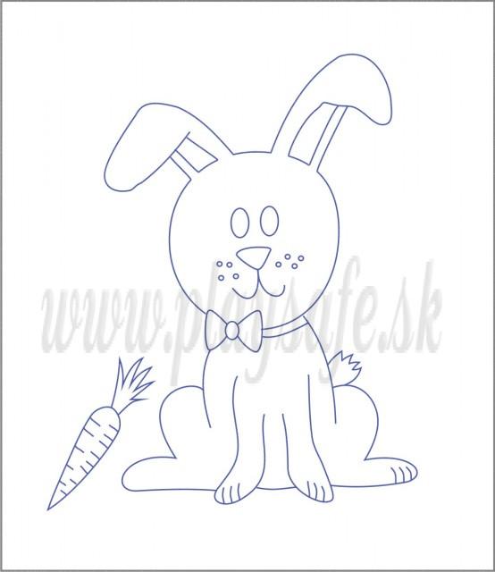 Beruška Detské vyšívanie Predtlač 20x15 Zajac