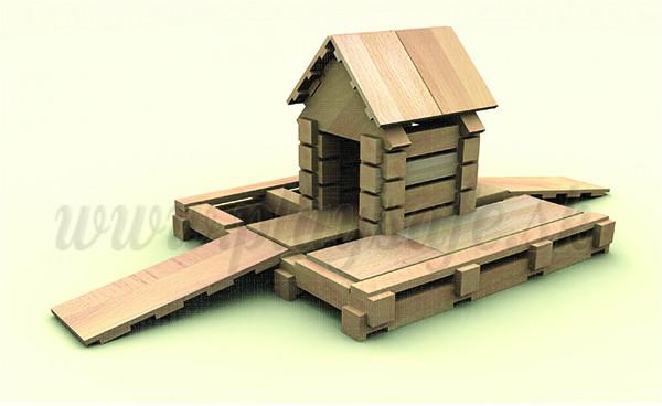 VEVA product Drevená stavebnica Brico Mini, 68ks