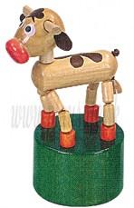 DETOA Drevená mačkacia hračka Teliatko