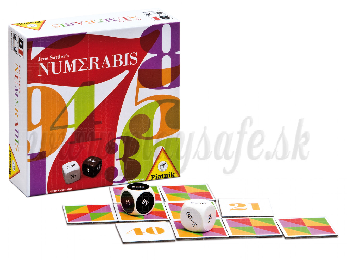 Piatnik Spoločenská matematická hra Numerabis