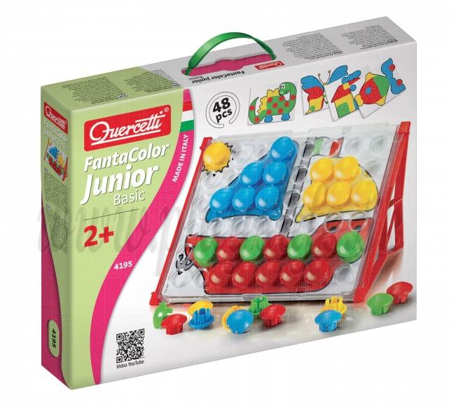 Quercetti Mozaika 4195 Fantacolor Junior Basic, 48ks