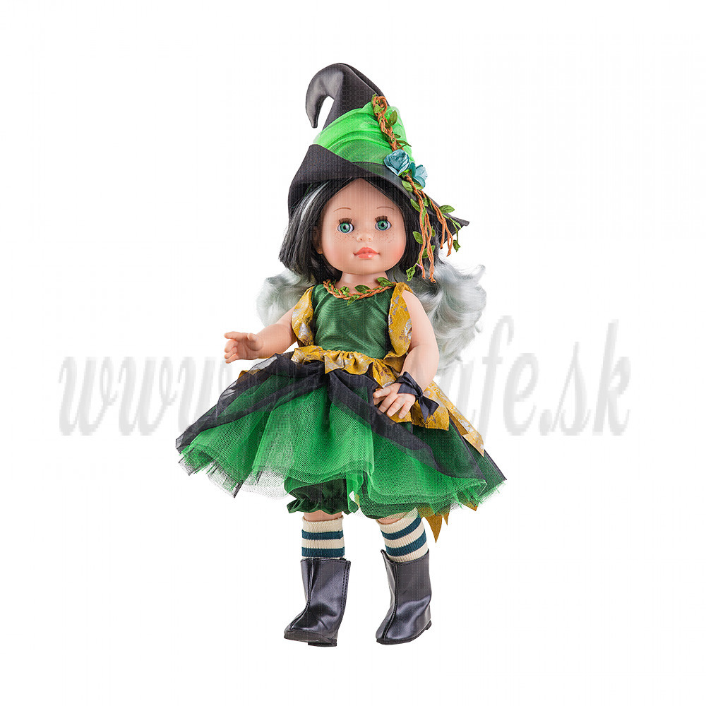 Paola Reina Soy tu bábika Čarodejka zelená, 42cm