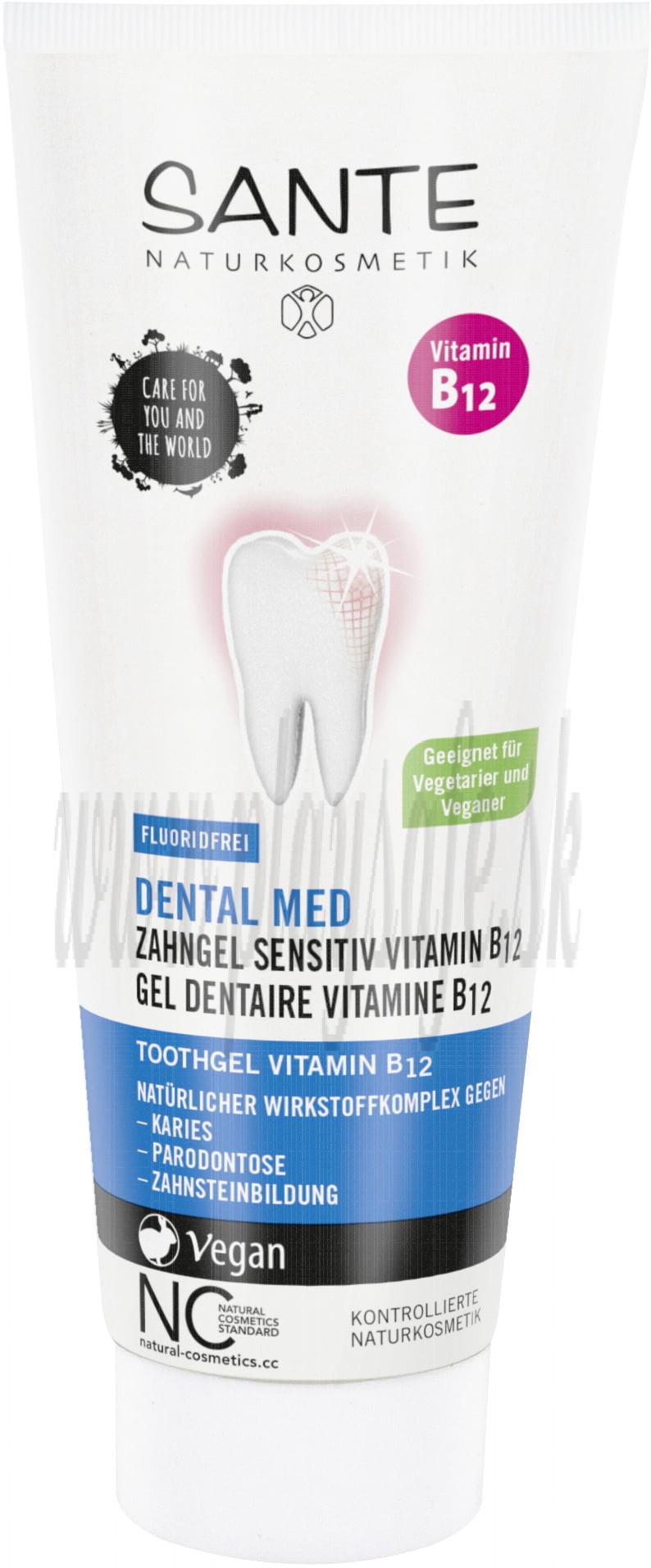 Sante Zubný gél s vitamínom B12, 75ml