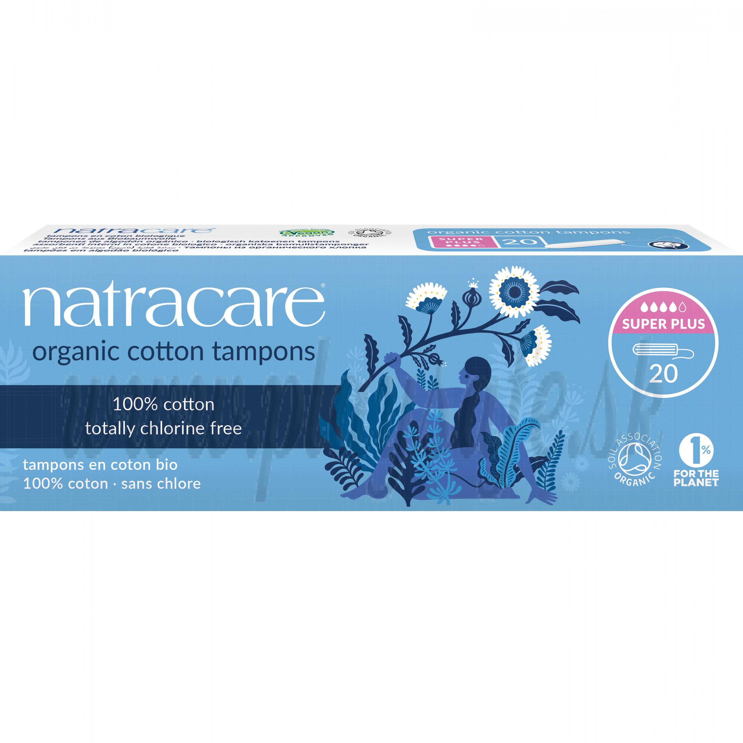 Natracare Bio bavlnené tampóny Super Plus, 20ks