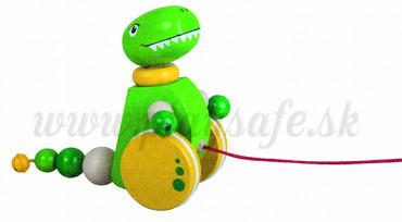 DETOA Drevená ťahacia hračka Tyranosaurus Rex