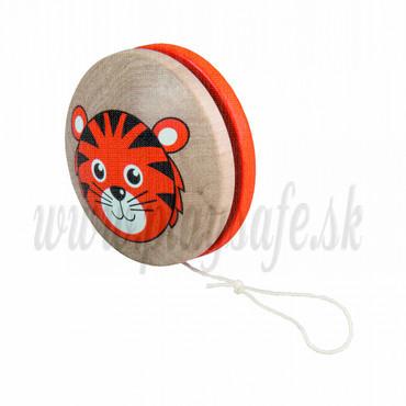 DETOA Drevená hračka JO-JO Tigrík