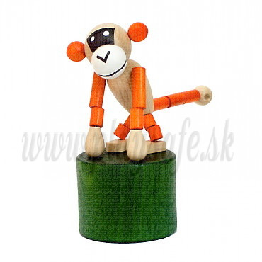 DETOA Drevená mačkacia hračka Opička Mini