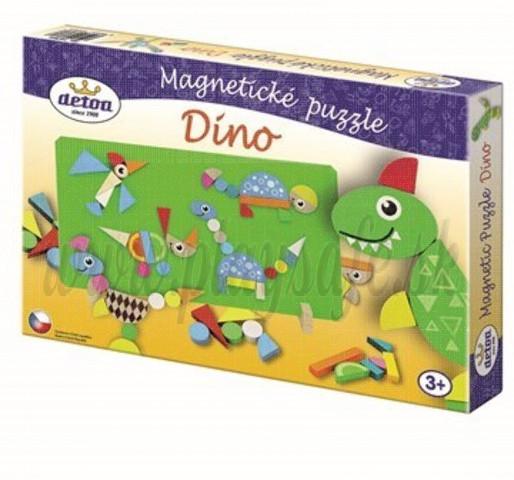 DETOA Drevené magnetické puzzle Dino