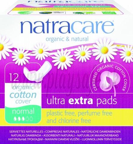 Natracare Bio bavlnené menštruačné vložky Ultra Extra Normal, 12ks