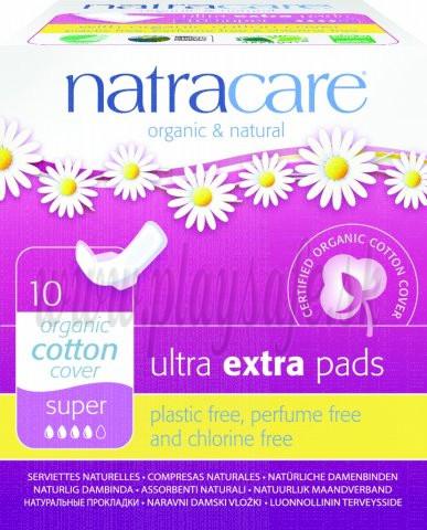 Natracare Bio bavlnené menštruačné vložky Ultra Extra Super, 10ks