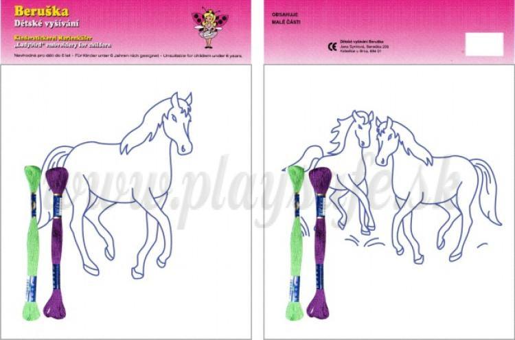 Beruška Detské vyšívanie Sada stredná Kôň a kone