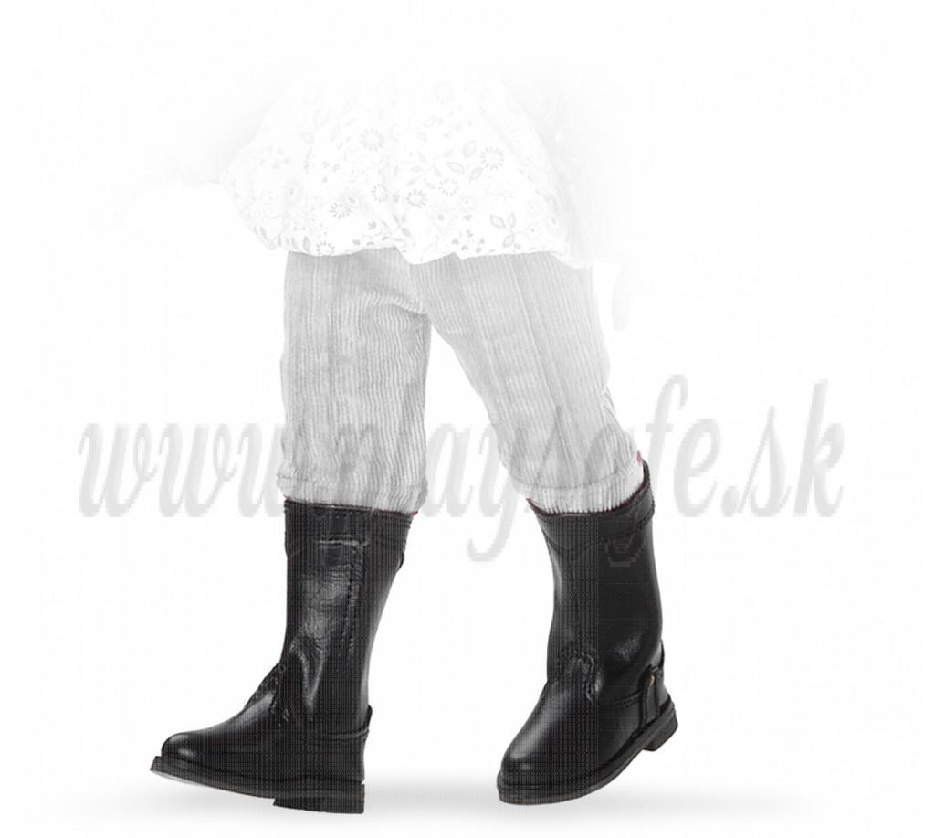 Paola Reina Las Amigas Čižmičky čierne vyššie so suchým zipsom 32cm