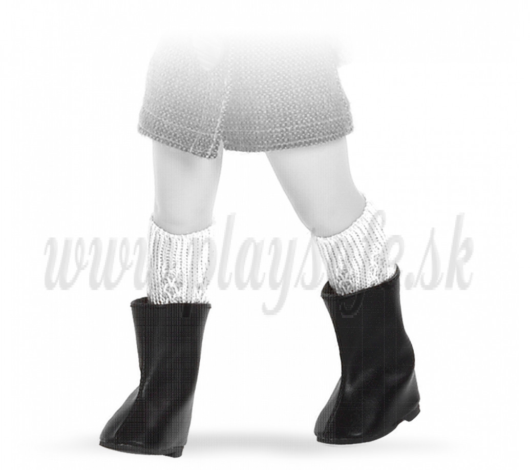 Paola Reina Las Amigas Čižmičky čierne nižšie 32cm suchý zips