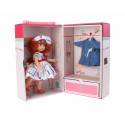 Berjuan Irene bábika, 22cm v kufríku v pásikových šatočkách