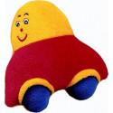 Noe Plyšová dojčenská hračka s hrkálkou autíčko