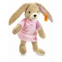 Steiff Zajko Hoppel biobavlna, 20cm ružové pyžamko