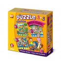 Efko Súbor puzzle 3v1 Moja rodina