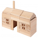 Goki Drevené stavebné kocky prírodné, 200ks