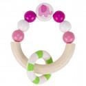 Heimess Drevená elastická hračka do ruky polkruh Sloník ružový