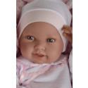 Antonio Juan Realistické bábätko Pipa na deke, 42cm