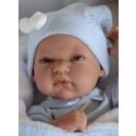 Antonio Juan Realistické bábätko Tonet Manta, 33cm chlapček v modrom