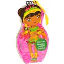 Obliekame brazílske bábiky Isabela maľovanky a nálepky