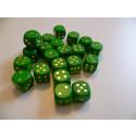 DETOA Drevená kocka hracia lisovaná 16mm zelená