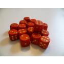 DETOA Drevená kocka hracia lisovaná 16mm červená