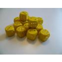 DETOA Drevená kocka hracia lisovaná 16mm žltá, 1ks