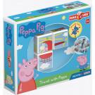 GEOMAG Magicube Magnetické kocky Peppa Pig Cestuj s Peppou, 3 kocky