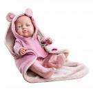 Paola Reina Realistické bábätko Bebita s ružovými uškami 2021, 45cm