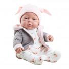 Paola Reina Realistické bábätko Bebita v bundičke 2021, 45cm