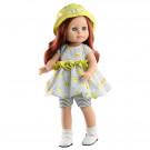 Paola Reina Soy tu bábika Becca 2020, 42cm zelený klobúčik