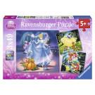 Ravensburger Puzzle Disney Princezné, 3x49ks