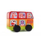 Cubika Drevené skladacie autíčko minibus