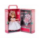 Berjuan Luci bábika, 22cm v kufríku v bielych šatočkách