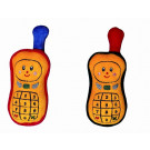 Noe Plyšová dojčenská hračka s hrkálkou mobil červený